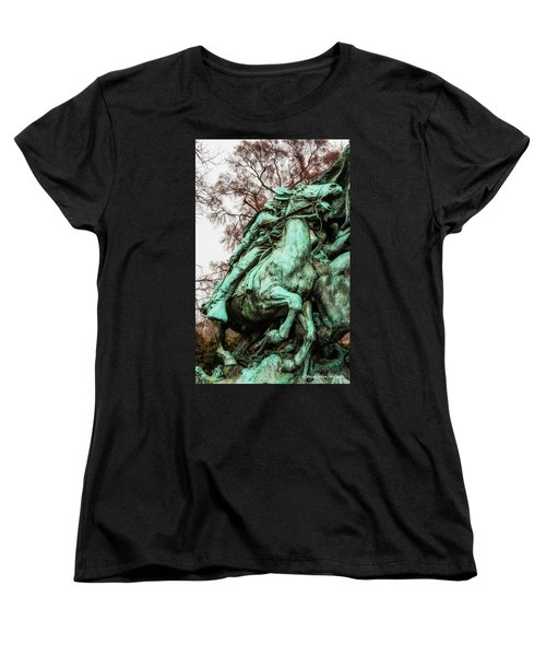 Women's T-Shirt (Standard Cut) featuring the photograph Riding Tight by Christopher Holmes