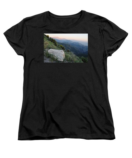 Women's T-Shirt (Standard Cut) featuring the photograph Rim O' The World National Scenic Byway by Kyle Hanson