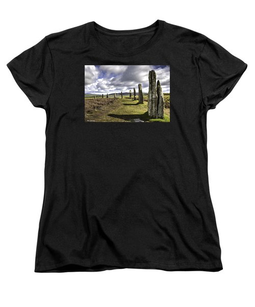 Ring Of Brodgar Women's T-Shirt (Standard Cut) by Fran Gallogly