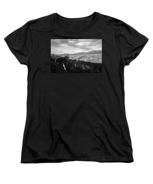 Women's T-Shirt (Standard Cut) featuring the photograph Rio Grande Gorge Birdge by Marilyn Hunt