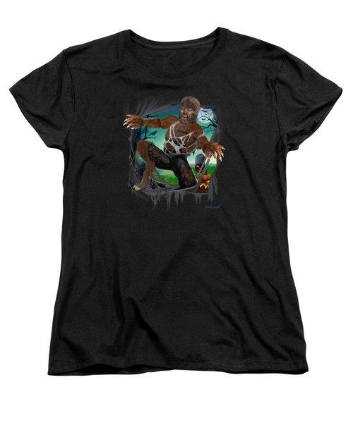 Rip Roaring Werewolf Women's T-Shirt (Standard Cut) by Glenn Holbrook
