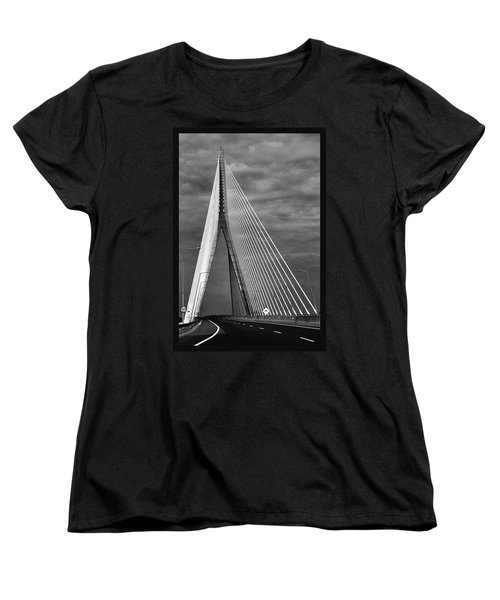 Women's T-Shirt (Standard Cut) featuring the photograph River Suir Bridge. by Terence Davis