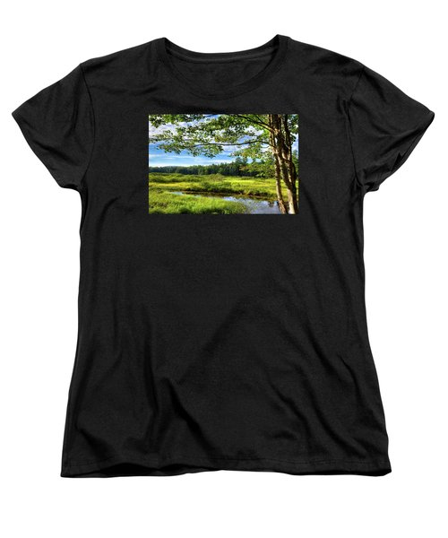 Women's T-Shirt (Standard Cut) featuring the photograph River Under The Maple Tree by David Patterson