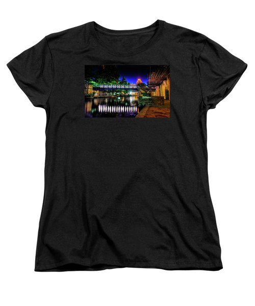 Riverwalk Bridge Women's T-Shirt (Standard Cut) by Mark Dunton