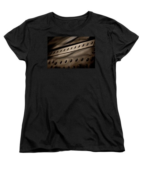 Women's T-Shirt (Standard Cut) featuring the photograph Rivets by Paul Job
