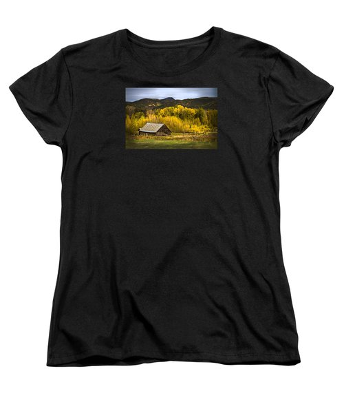 Women's T-Shirt (Standard Cut) featuring the photograph Road To Steamboat Lake by John Hix
