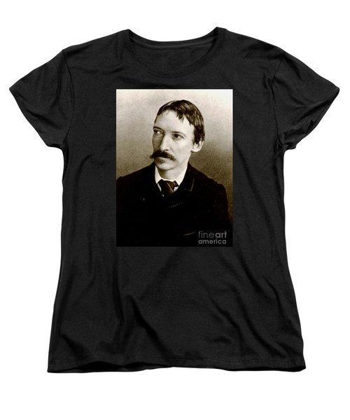 Robert Louis Stevenson Women's T-Shirt (Standard Cut) by Pg Reproductions