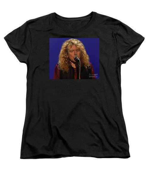 Robert Plant 001 Women's T-Shirt (Standard Cut) by Sergey Lukashin