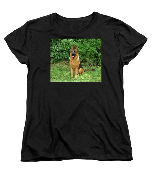 Women's T-Shirt (Standard Cut) featuring the photograph Rocco Sitting by Sandy Keeton