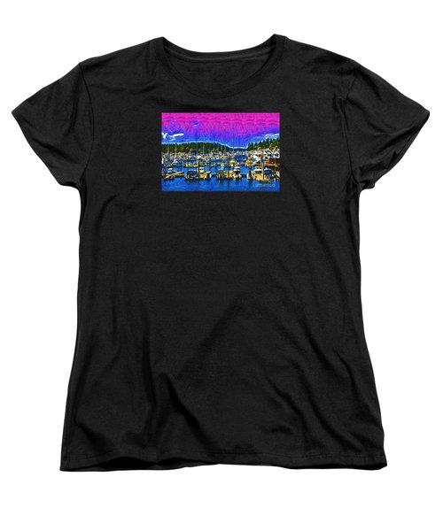 Roche Harbor 1 Women's T-Shirt (Standard Cut) by Kirt Tisdale