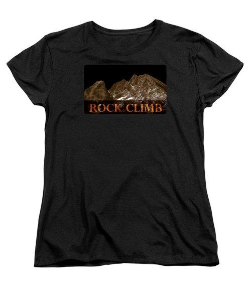 Women's T-Shirt (Standard Cut) featuring the photograph Rock And Climb by Frank Tschakert