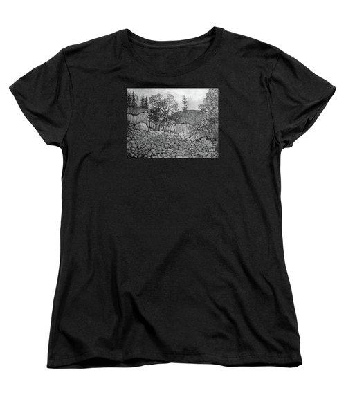 Rock Beach Women's T-Shirt (Standard Cut) by John Stuart Webbstock