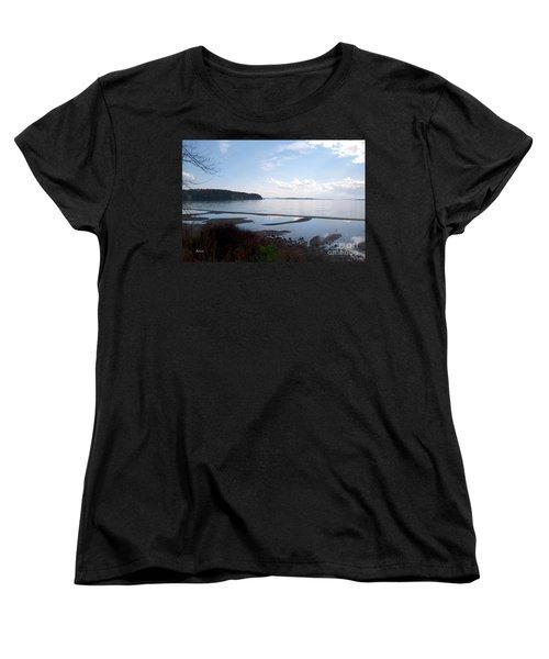 Women's T-Shirt (Standard Cut) featuring the photograph Rock Point North View Horizontal by Felipe Adan Lerma