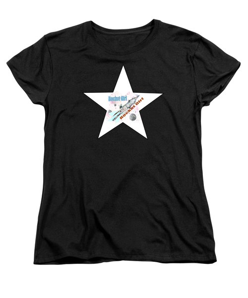 Rocket Girl With Star Women's T-Shirt (Standard Cut) by Tom Conway