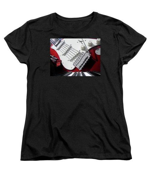 Women's T-Shirt (Standard Cut) featuring the photograph Rock'n Roller Coaster Aerosmith by Juergen Weiss