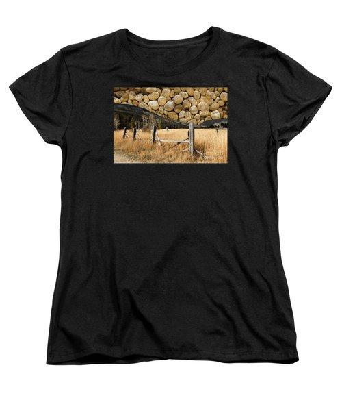 Rocky Mountain Sky Women's T-Shirt (Standard Cut) by John Stephens