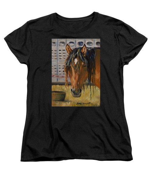 Rodeo Horse Women's T-Shirt (Standard Cut) by Lori Brackett