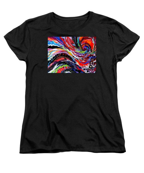Rolling Detail Three Women's T-Shirt (Standard Cut) by Expressionistart studio Priscilla Batzell