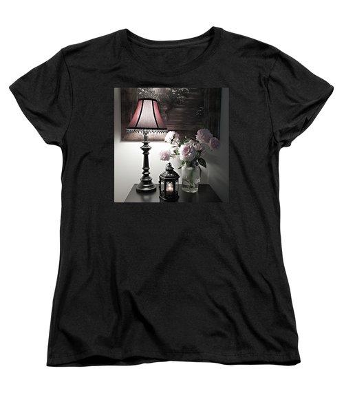 Romantic Nights Women's T-Shirt (Standard Cut) by Sherry Hallemeier