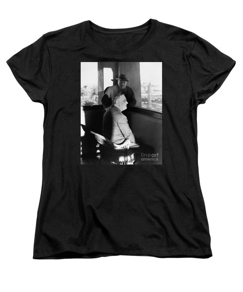 Roosevelt And Churchill Women's T-Shirt (Standard Cut) by Granger