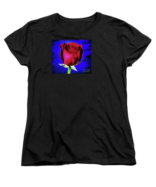 Rose - Beauty And Love  Women's T-Shirt (Standard Cut) by Ray Shrewsberry