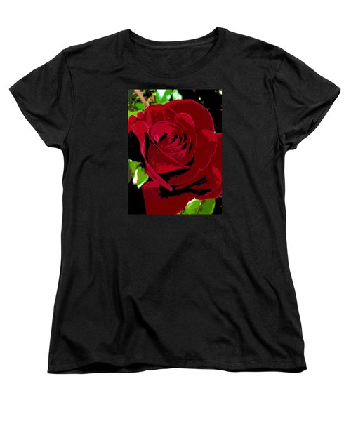 Women's T-Shirt (Standard Cut) featuring the photograph Rose Bloom by Matthew Bamberg