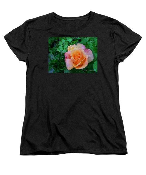 Women's T-Shirt (Standard Cut) featuring the photograph Rose by Bonnie Willis