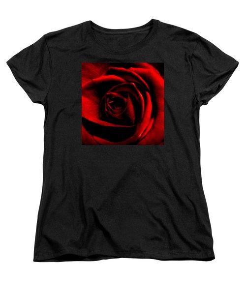Rose Women's T-Shirt (Standard Cut) by CML Brown