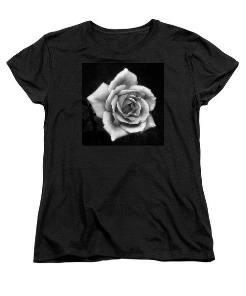 Rose In Mono. #flower #flowers Women's T-Shirt (Standard Cut) by John Edwards