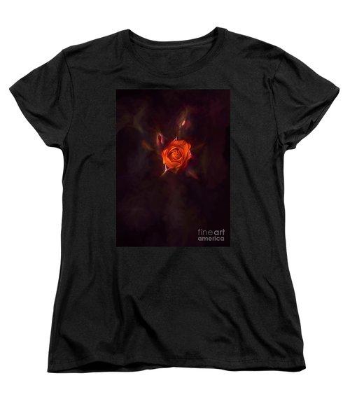 Rosebud Women's T-Shirt (Standard Cut) by Billie-Jo Miller