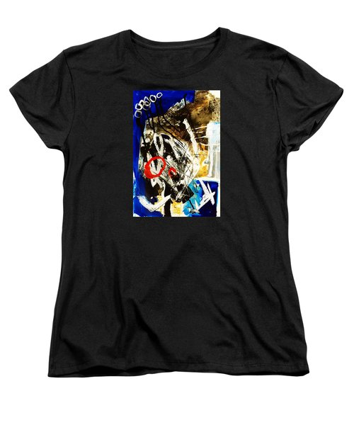 Women's T-Shirt (Standard Cut) featuring the painting Round II by Helen Syron