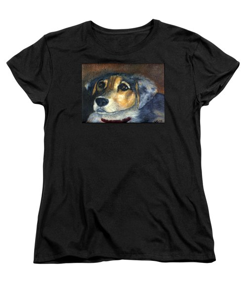 Women's T-Shirt (Standard Cut) featuring the painting Roxie by Gail Kirtz