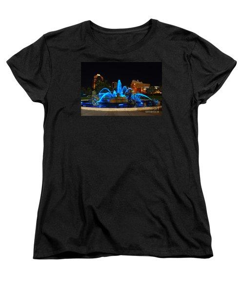 Royal Blue J. C. Nichols Fountain  Women's T-Shirt (Standard Cut) by Catherine Sherman
