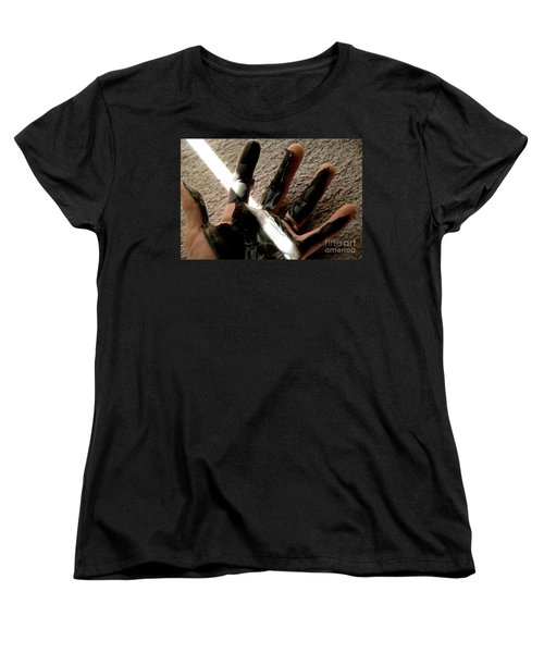 Women's T-Shirt (Standard Cut) featuring the photograph Rubber Hand by Micah May