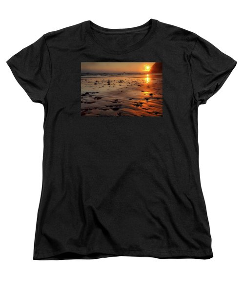 Women's T-Shirt (Standard Cut) featuring the photograph Ruby Beach Sunset by David Chandler