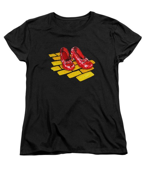 Ruby Slippers From Wizard Of Oz Women's T-Shirt (Standard Cut) by Irina Sztukowski