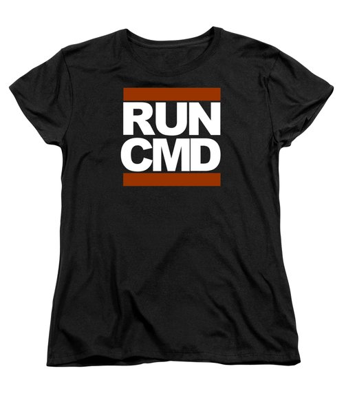 Run Cmd Women's T-Shirt (Standard Cut) by Darryl Dalton