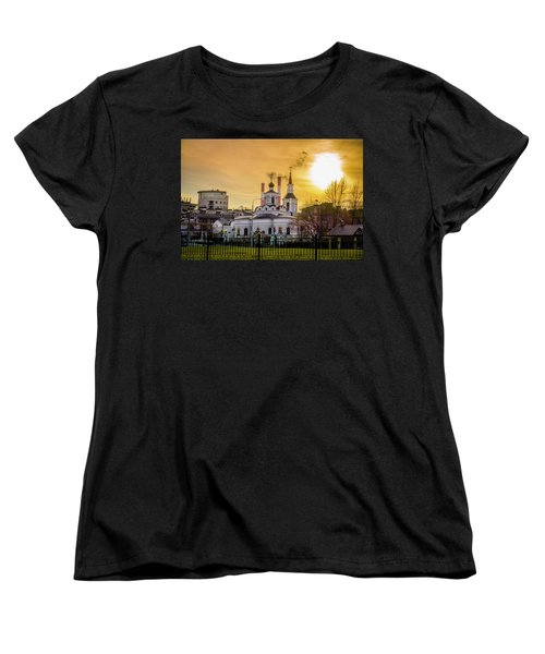 Women's T-Shirt (Standard Cut) featuring the photograph Russian Ortodox Church In Moscow, Russia by Alexey Stiop