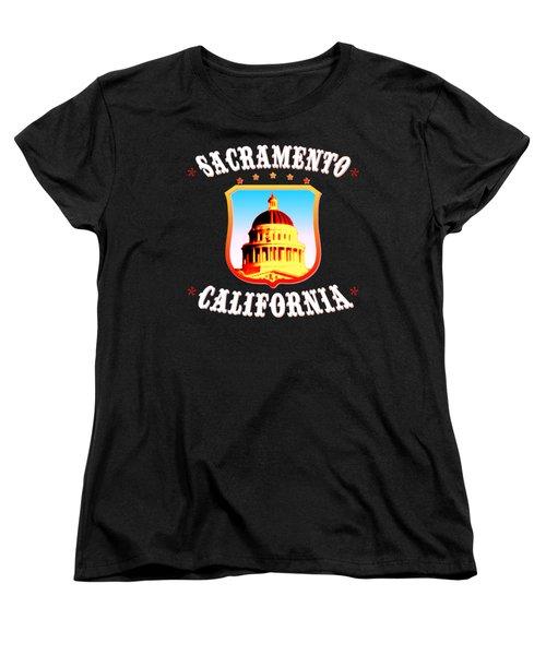 Sacramento California - Tshirt Design Women's T-Shirt (Standard Cut) by Art America Gallery Peter Potter