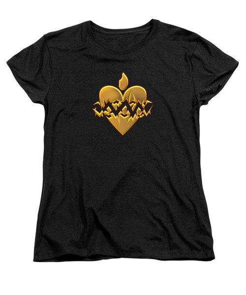 Sacred Heart Of Jesus Digital Art Women's T-Shirt (Standard Cut) by Rose Santuci-Sofranko