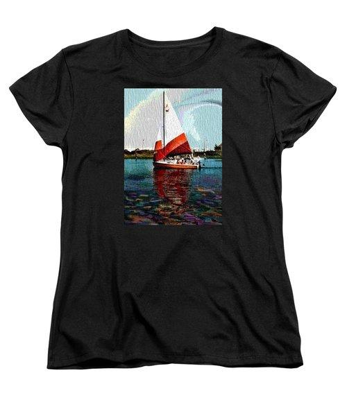 Sail Along On The Sea Women's T-Shirt (Standard Cut) by Vickie G Buccini