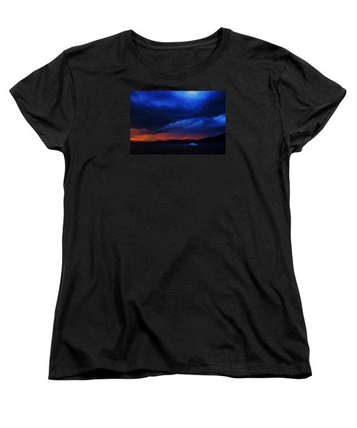 Women's T-Shirt (Standard Cut) featuring the photograph Sailboat In Thunderstorm by Sean Sarsfield