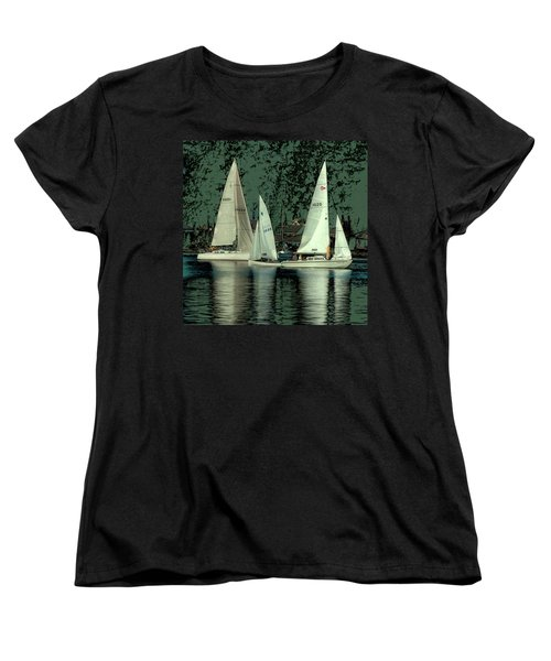 Women's T-Shirt (Standard Cut) featuring the photograph Sailing Reflections by David Patterson