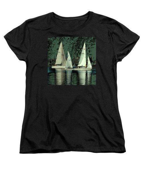 Sailing Reflections Women's T-Shirt (Standard Cut) by David Patterson