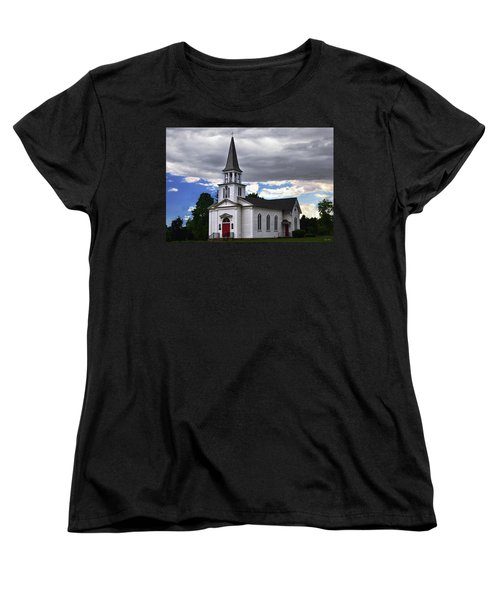 Women's T-Shirt (Standard Cut) featuring the photograph Saint James Episcopal Church 001 by George Bostian