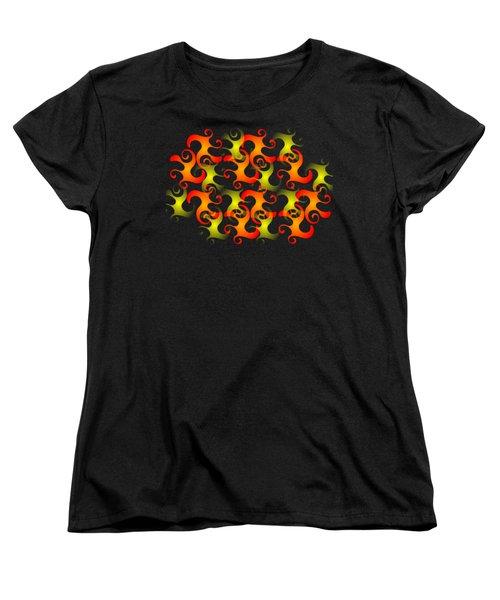 Salamanders Dream Women's T-Shirt (Standard Cut) by Anastasiya Malakhova