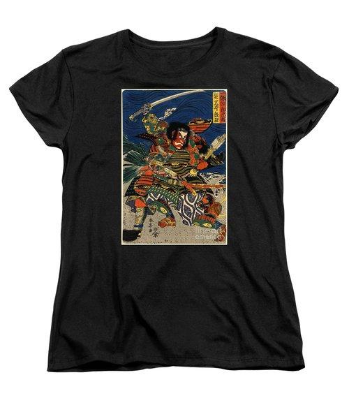 Samurai Warriors Battle 1819 Women's T-Shirt (Standard Cut) by Padre Art