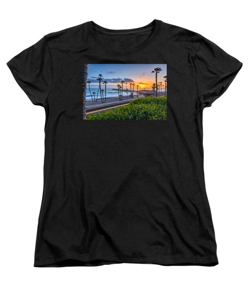 San Clemente Women's T-Shirt (Standard Cut) by Peter Tellone
