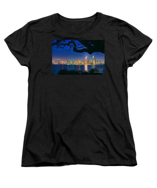 San Diego Skyline From Bay View Park In Coronado Women's T-Shirt (Standard Cut) by Sam Antonio