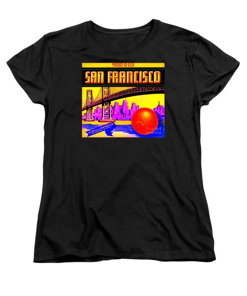 Women's T-Shirt (Standard Cut) featuring the painting San Francisco Oranges by Peter Gumaer Ogden